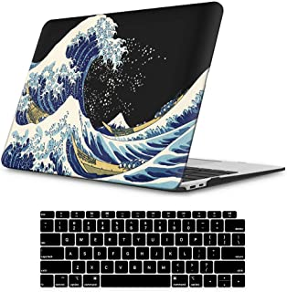 iLeadon MacBook Air 13 Inch Case 2018 Release A1932, Soft Touch Ultra Thin Hard Shell Cover for Apple MacBook Air 13 Inch with Retina Display fits Touch ID, Sea Wave