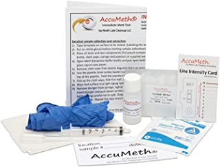 AccuMeth Instant Methamphetamine Residue Test for Homes - Sample 1 Area for Meth, Get 1 Result (0.1 ug/100cm2 Legal Standard) (Pack of 1)