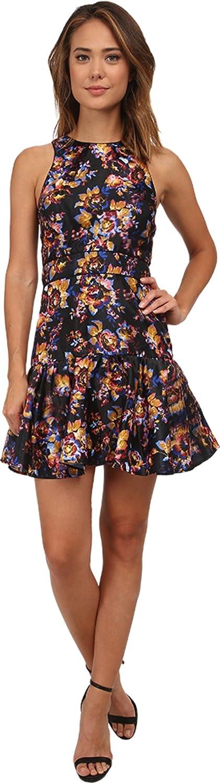 Nicole Miller Womens 3D Floral Party Dress