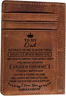 Engraved Pocket Wallet To My Son Dad Husband, Personalized Gift Slim Cards Case Money Clips