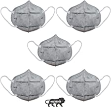 SHOPERIYA KN-95 Made in India Standard Size CE-Certified Reusable/Washable 6-Layered Outdoor Protection Face Mask with Improved Ear Loops for Men/Women -Pack of 5