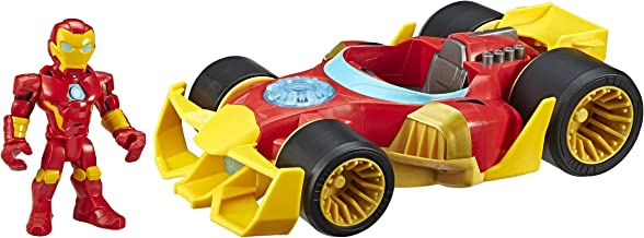 Super Hero Adventures Playskool Heroes Marvel Iron Man Speedster, 5-Inch Figure and Vehicle Set,...