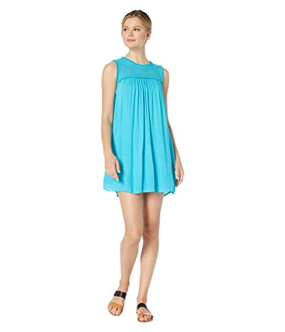 Tommy Bahama Crinkle Rayon Sleeveless Dress (Aqua Cerulean) Women