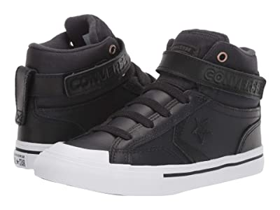 Converse Kids Pro Blaze Strap Martian Hi (Little Kid/Big Kid) (Almost Black/Black/Mason) Boys Shoes