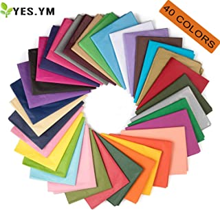 YES.YM Tissue Paper Bulk Wrapping Art Rainbow Tissue Paper for Art Paper Craft Gift Wrapping Decorative Pom Poms Paper Flowers,19.7 x 27.6 Inch,2Pcs,40 Colors