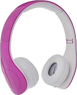 Amazon Basics Casque audio filaire à niveau sonore limité pour enfants avec double entrée pour le partage d'écoute, Rose