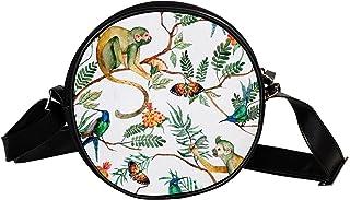 Yuzheng Umhängetasche Umhängetasche Affe Süße runde Tasche für Jungen Mädchen 17cm