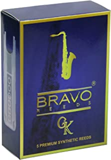 Bravo Synthetic Reeds for Tenor Saxophone-Strength 3.0 (Box of 5), Model BR-TS30