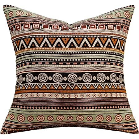 Pink and turquoise Floral African Tribal Graphic Print cushion cover 20 x 20 inch