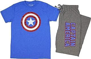 Marvel Captain America Men's Shield Logo Shirt And Sleep Pants Set