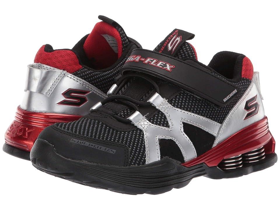 SKECHERS KIDS Gore Strap Sneaker 97990L (Little Kid/Big Kid) (Silver/Black) Boy