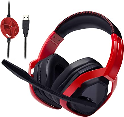 AmazonBasics - Cuffie da gioco Pro, con microfono per PC, Rosso - Confronta prezzi