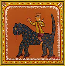 Berkin Arts Framed Jamini Roy Giclee Canvas Print Paintings Poster Reproduction(Man On A Beast) #XLK