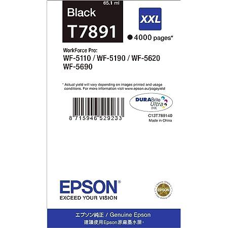 Epson Original T7891 Tinte Singlepack Schwarz Extra Hohe Kapazität Bürobedarf Schreibwaren