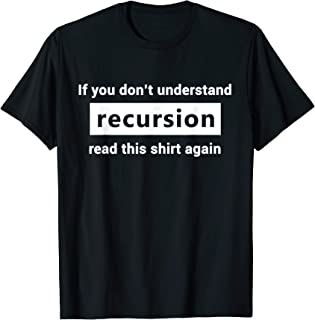 Programmer Recursion Definition T-Shirt Gift for Coders
