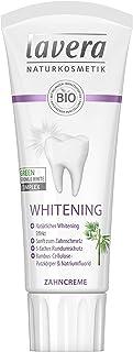 Lavera Zahncreme Whitening ∙ Bambus-Cellulose-Putzkörper & Natriumfluorid ∙ Natürliches Whitening ∙ Vegan Bio Pflanzenwirk...