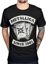 AWDIP Men's Official Metallica Dealer Since 1981 T-shirt Heavy Metal Thrash Band
