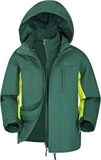 Mountain Warehouse Chaqueta Cannonball Impermeable Infantil - Triclimate Transpirable, Costuras Selladas, Capucha Desmonta...