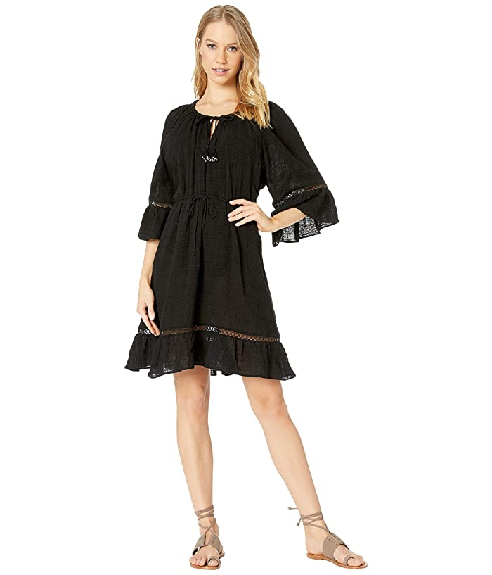 Seafolly Bell Sleeve Cover-Up (Black) Women