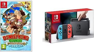 Nintendo Switch Console System 32GB Neon Joy-Con Wireless, Donkey Kong Bundle