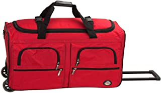 Best Rockland Rolling Duffel Bag, Red, 36-Inch Reviews