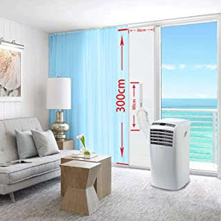 Piezas Tela de Sellado Balcón de la Puerta Ascensor de Aire Acondicionado secador de Escape secador de la Puerta Sello de la Tira con Cremallera de Aire Caliente Deflector Mobile Air Conditioning