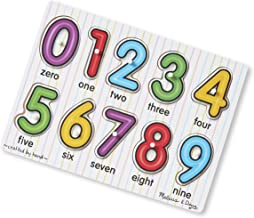 Melissa & Doug See-Inside Numbers Peg Puzzle (10 Pieces, Great Gift for Girls and Boys - Best for Babies and Toddlers, 12 Month Olds, 1 and 2 Year Olds)