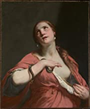 Historic Pictoric Fine Art Print - Guido Cagnacci - The Death of Cleopatra - Vintage Wall Art - 16in x 20in