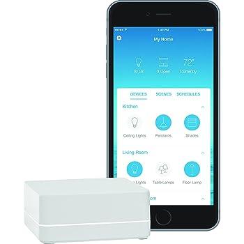 Lutron Caseta Wireless Smart Bridge | Works with Alexa, Apple HomeKit, and the Google Assistant | L-BDG2-WH | White