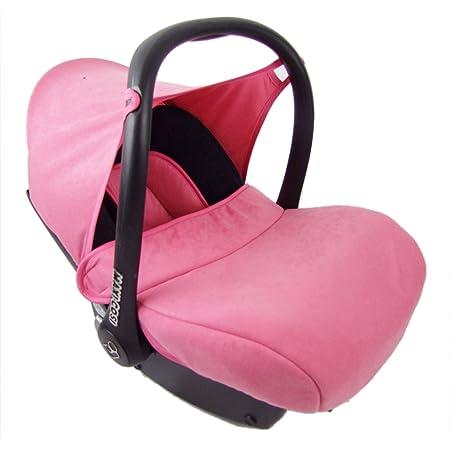 Bambiniwelt Kompl Ersatzbezug Für Maxi Cosi Cabriofix 7 Tlg Bezug Für Babyschale Sommerbezug Cabrio Fix Schwarz Rosa Xx Baby