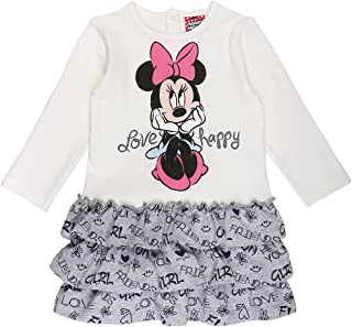 Disney Minnie Mouse Originale Ragazze Vestito Lungo Caldo Pile Felpa Tunica 2-8 Anni