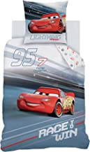 Parure de lit Cars - Housse de couette de 135 x 200 cm et 80 x 80 cm - Coton - Parure de lit pour garçon - 2 pièces - 1 ta...