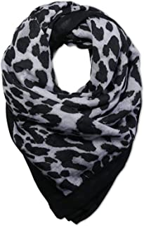 SOJOS Fashion Leopard Pattern Lightweight Chiffon Silk Women Scarf SC321 SC311