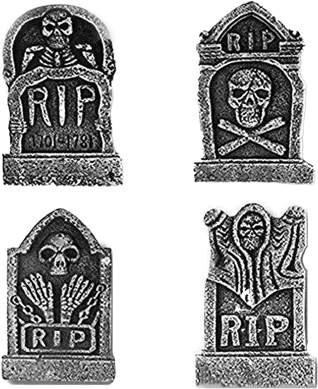 sakalaexp 4PCS Halloween Very Max 90% OFF popular Bubble Tombstone Hor Skeleton