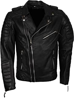 Mens Biker Boda Style Black Genuine Leather Jacket Sexy Outfits