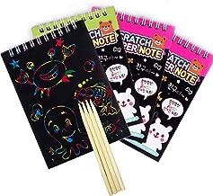 regalos viajes aula estudiantes fiestas Bebester 75 hojas de marcadores de libros con rayones m/ágicos arco/íris con 15 l/ápices de madera y 75 cintas de sat/én para ni/ños Scratch Art para ni/ños