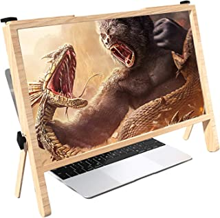 21 Inch Screen Magnifier For Computer, 3D HD Magnifing Projector Screen Enlarger For Movies, Office, Videos And Gaming, Fo...
