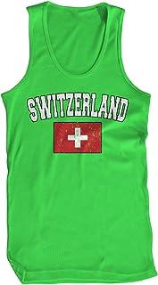 Amdesco Men's Flag of Switzerland, Home Swiss Flag Tank Top