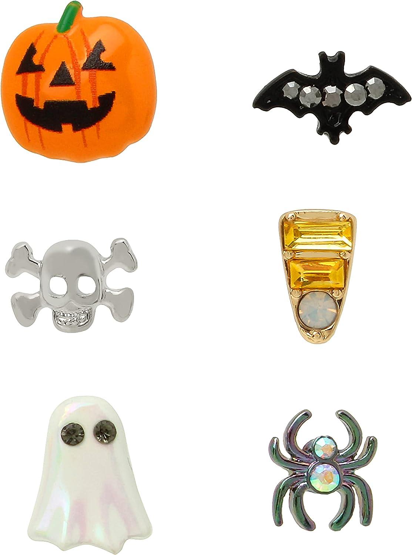 Pumpkin Single Stud Earrings Set