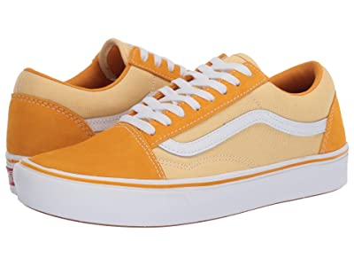 Vans Comfycush Old Skool ((Suede/Textile) Cadmium Yellow/Golden Haze) Athletic Shoes