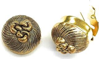 أزرار تغطي أزرار الأكمام تصميم العقدة الذهبية العتيقة •مشابك زر -زوج واحد - البديل عن أزرار الأكمام للقمصان العادية