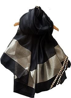 (エスエヌケー)SNK 冷房対策 シルク シフォンの華やかストール・ショール・スカーフ 薄手 羽織り オーガンジーストール 大判 uvカット パーティーストール フォーマル 無地