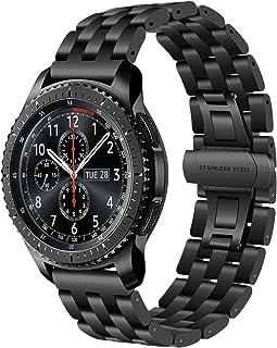 TRUMiRR - Correa de Reloj Compatible con Gear S3 Frontier/Classic 22 mm Acero Inoxidable Quick Release Pulsera para Samsung Gear S3 Classic Frontier Galaxy Watch 46 mm Huawei GT