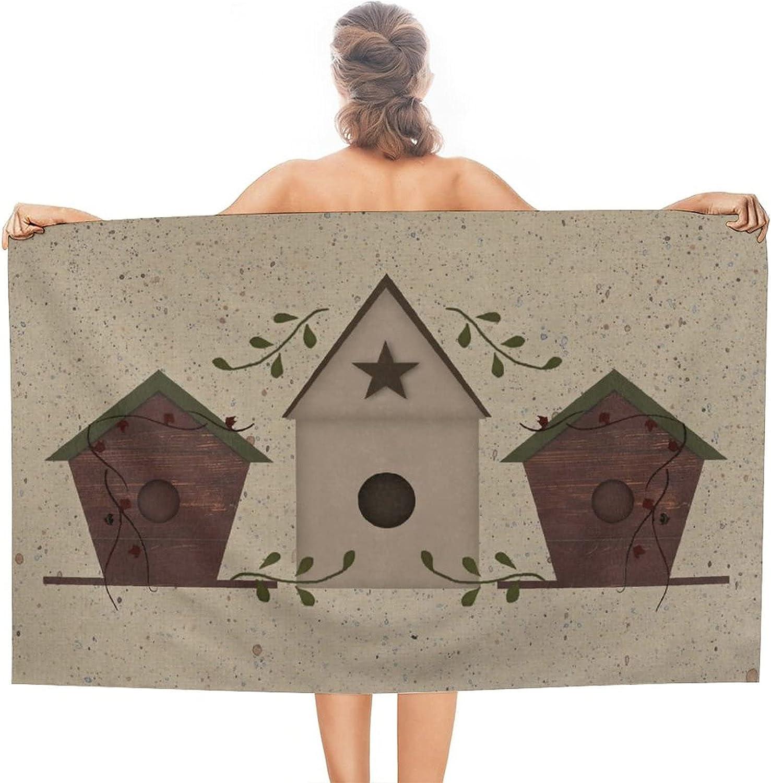 Primitive Birdhouses Beach Towel Sand New item Absorbent Quick Dry Proof In stock