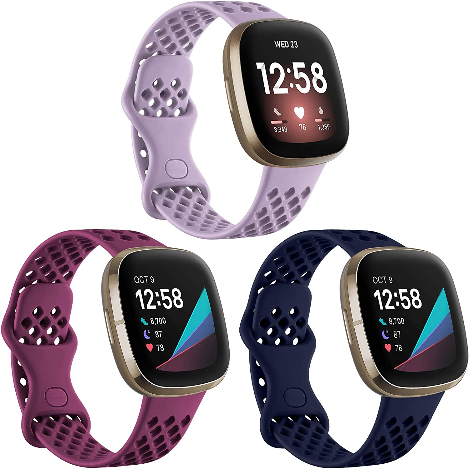 Ouwegaga Compatible for Fitbit Sense In a popularity El Paso Mall and 3 Versa Bands Wa