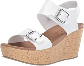 Skechers Women's Brit-High-Wedge Quarter Strap Sandal