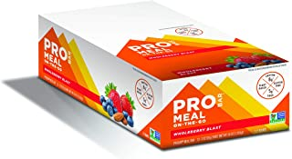 PROBAR - Meal Bar, Wholeberry Blast, Non-GMO, Gluten-Free, Certified Organic, Healthy, Plant-Based Whole Food Ingredients, Natural Energy (12 Count)