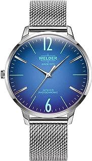 Welder Moody - Reloj Welder Slim WRS620, Unisex, Color Azul y Plateado, Esfera Redonda de 7,4 mm de Grosor