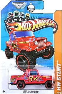Hot Wheels 2013 HW Stunt Jeep Scrambler Red