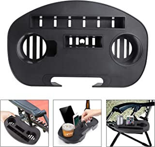 Yephets Beach Cup Holder Tray,Multifunctional Zero Gravity Chair Tray Lounge Chairs Recliner Table Cups Holder for Mobile Device Slot Snack Cellphone